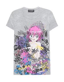 DSQUARED2 Japan Manga Girl Grey