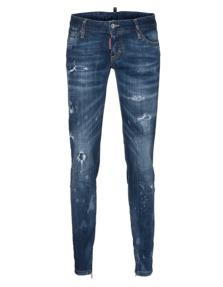 DSQUARED2 Skinny Jean Short Crotch Dark Blue