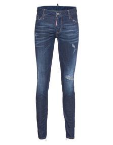 DSQUARED2 Medium Waist Skinny Jean Used Blue