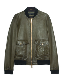 DSQUARED2 Pilot Leather Bomber