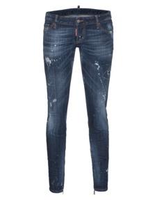 DSQUARED2 Skinny Jean Short Crotch Tight Bottom Zip