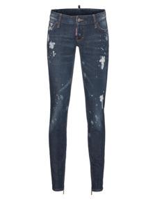 DSQUARED2 Skinny Jean Short Crotch Tight Bottom Art