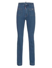 DSQUARED2 High-Waist Flare Blue