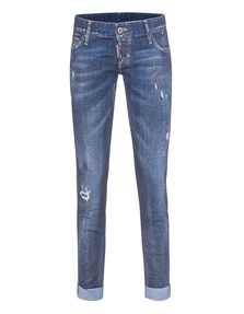 DSQUARED2 Pat Short Crotch Bottom Blue