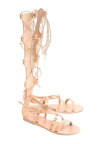 Ancient Greek Sandals Sofia High Natural