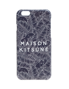 MAISON KITSUNÉ Label Leaves Dark Blue