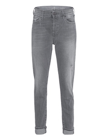 7 FOR ALL MANKIND Josefina Slim Illusion Ivory Grey