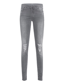 7 FOR ALL MANKIND The Skinny Slim Illusion Grey Distressed