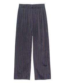 VINCE Stripe Crop Blue