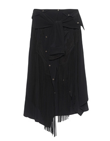 FAITH CONNEXION Long Wash Silk Black