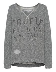 TRUE RELIGION Womens True Horsehoe Greymarl