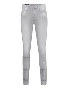 TRUE RELIGION Halle Grey Denim Destroy