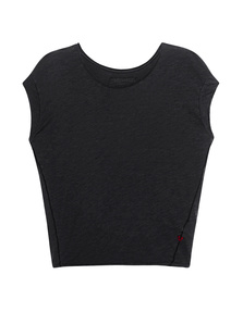TRUE RELIGION Boxy Crew Jet Black