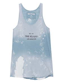 TRUE RELIGION Army Top Air Force Blue