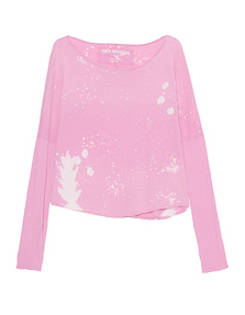 TRUE RELIGION Long Crew Pink