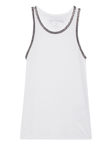 TRUE RELIGION Rhinestone Tank White