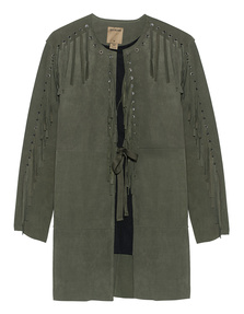 TRUE RELIGION Fringes Military Green