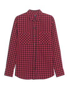 TRUE RELIGION Plaid Utility Shirt Red Check