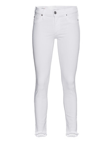 TRUE RELIGION Halle Super Skinny White