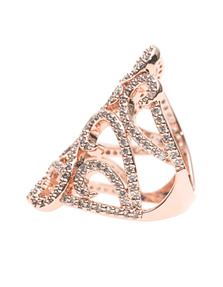 BRONZALLURE Ornamental Shiny CZ Rose Gold