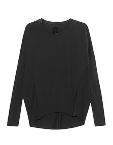 THOM KROM Longsleeve Cut Out Black