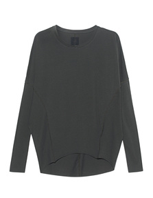 THOM KROM Longsleeve Cut Out Green