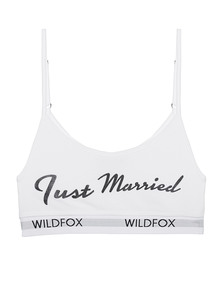 WILDFOX Just Married Bra Wedding White