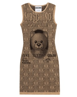 MOSCHINO Bear Effect Sleeve Gold