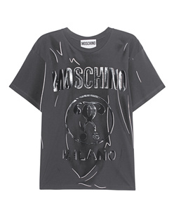 MOSCHINO Label Line Glossy Black Anthra