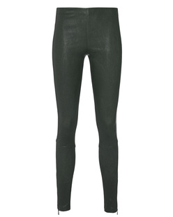 LAPIS Soft Leather Zip Oliv