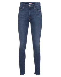 MOTHER High Waisted Looker Girl Blue