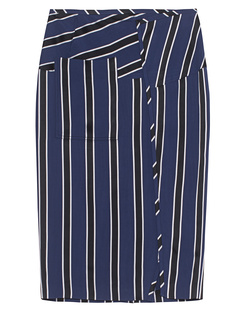 ACNE STUDIOS Karlotta Black Navy Stripe