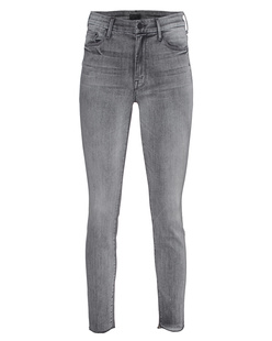 MOTHER High Waisted Looker Fray Grey