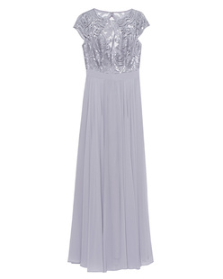 YOUNG COUTURE BY BARBARA SCHWARZER Long Lace Grey