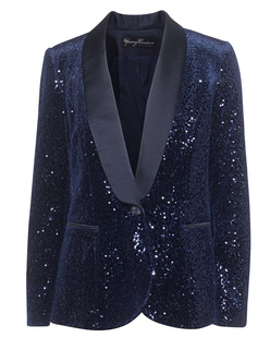 YOUNG COUTURE BY BARBARA SCHWARZER Sequin Navy