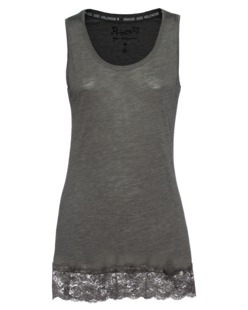 PRINCESS GOES HOLLYWOOD Floral Lace Tank Olive