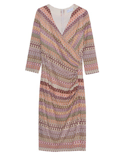 YOUNG COUTURE BY BARBARA SCHWARZER Hole Crochet Draped Multi