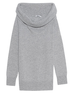 T BY ALEXANDER WANG Cashwool Knit Off The Shoulder Grey