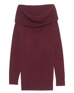 T BY ALEXANDER WANG Cashwool Knit Off The Shoulder Bordeaux