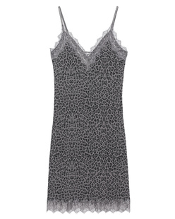 ROSEMUNDE COPENHAGEN Strap Dress Dark Grey Animal
