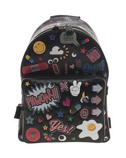 ANYA HINDMARCH Backpack Mini Wink Stickers Black