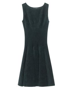 ANTONINO VALENTI Adelaide Skater Dress Deep Green
