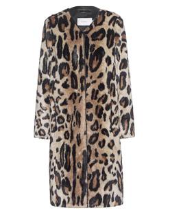 STAND Claire Coat Fake Fur Leo