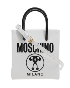 MOSCHINO Boxy Leather White