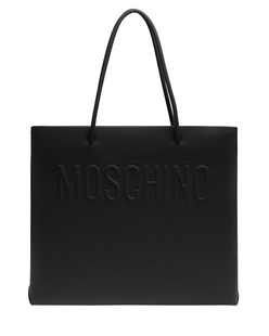 MOSCHINO Embossed Big Clean Black