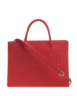 MOSCHINO Embossed Clean Red