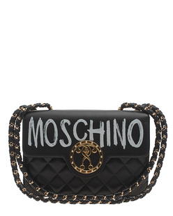MOSCHINO Quilted Lettering Gold Circle