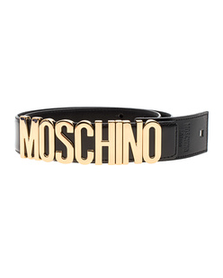 MOSCHINO Logo Lettering Gold Black