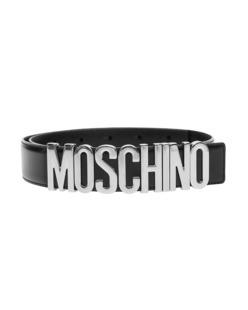 MOSCHINO Logo Silver Black