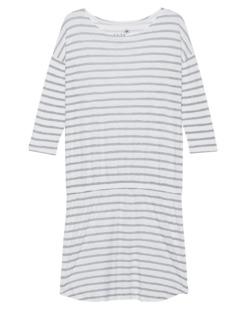 JUVIA Stripe Print Mini Grey White
